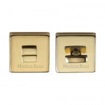 Heritage Brass Square Thumbturn & Emergency Release Polished Brass Finish