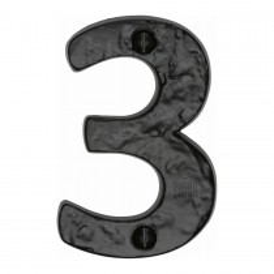"""M.Marcus Tudor Numeral 3 - 3"""" Black Iron"""