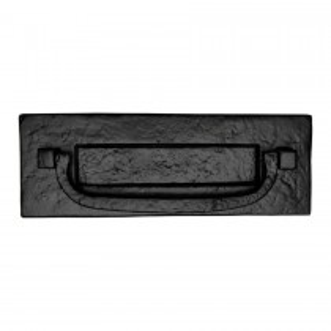 M.Marcus Tudor Postal Knocker Black Iron. 302x109 mm backplate