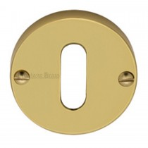 Heritage Brass Keyhole Escutcheon Polished Brass finish. 45mm dia