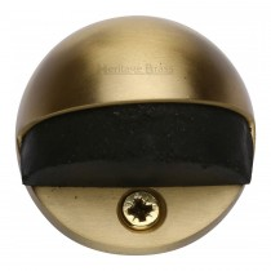 Heritage Brass Shielded Door Stop Satin Brass finish 28mm projection.