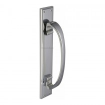 Heritage Brass Door Pull Handle on Plate Polished Chrome finish
