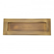 """Heritage Brass Letterplate 14"""" x 4 1/2"""" Antique Brass finish. 356x127 mm backplate"""