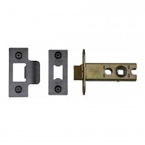 "M.Marcus York Architectural Tubular Latch 2 1/2"" Black Enamel Finish"