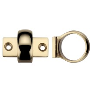 Window Sash Ring - Polished Brass