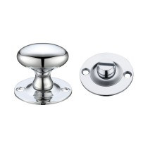 Oval Thumb Turn with Coin Release - 5mm spindle - Polished Chrome
