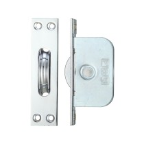 """Brass Ball Bearing Pulleys - 2 1/4"""" Square Forend - Polished Chrome"""