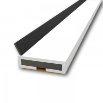 Pyroplex Intumescent Offset Flipper in White. 2100 mm x 15 mm x 4 mm