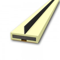 Pyroplex Intumescent Single Flipper in Cream. 2100 mm x 10 mm x 4 mm