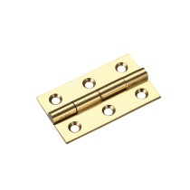 Solid drawn brass butt hinge - 50 x 28 x 1.5mm - Polished Brass