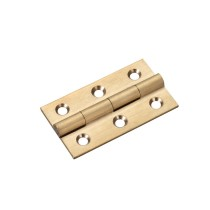 Solid drawn brass butt hinge - 50 x 28 x 1.5mm
