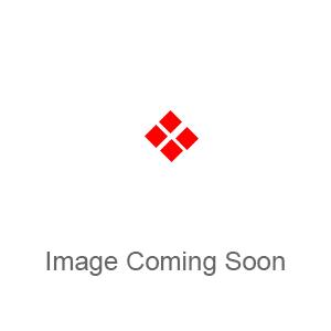 Door stop - floor mounted - oval - 40mm - Stainless Steel Effect