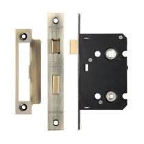 "Bathroom Lock 2.5"" - 57mm c/c - Florentine Bronze"