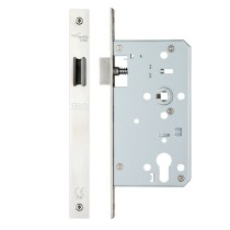 Din latch - backset 60mm - Polished Stainless Steel