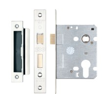 "Euro Profile Sashlock 3"" / 76mm - Polished Stainless Steel"