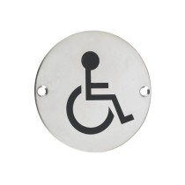 Sex Symbol - Disabled - 76mm dia - Polished Stainless Steel