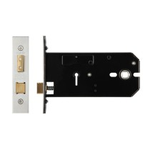 3 Lever Horizontal Lock - 152mm - Keyed Alike No. 379 - Stainless Steel Effect