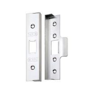 "Rebate Kit to Suit UK Flat Latch  - 1/2""  lock and striker - Stainless Steel Effect"